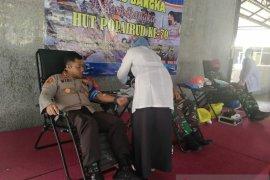 Polres Bangka berhasil kumpulkan 36 kantong darah