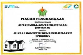 Manajemen PTPN IV kembali berikan Penghargaan Program Rumahku Surgaku