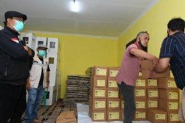 3 truk surat suara Pilgub tiba di Jambi, langsung didistribusikan ke KPU daerah