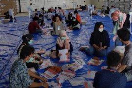 KPU Samarinda terapkan protokol kesehatan saat sortir surat suara