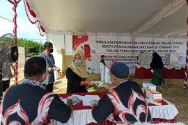 KPU Bangka Tengah gelar simulasi penghitungan suara Pilkada 2020