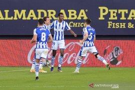 Liga Spanyol, Sociedad kokoh di puncak klasemen setelah menang di Cadiz