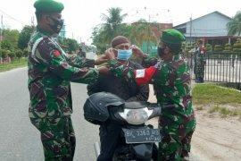 Zidam I/BB gelar operasi pendisiplinan prokes di Medan