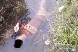 Polisi Bangka pastikan mayat di selokan air akibat sakit