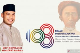 DPRD sampaikan Milad ke-108 Muhammadiyah