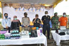 Bea Cukai Kualanamu musnahkan barang hasil sitaan senilai ratusan juta