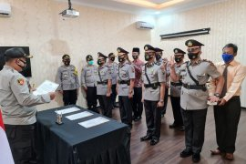 Polres Simalungun upacara sertijab tiga jabatan