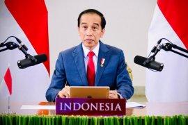 Presiden Jokowi hadiri pertemuan virtual WEF tentang Indonesia