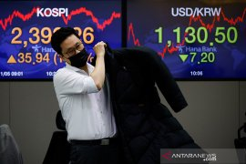 Saham Korean dibuka tinggi, indeks KOSPI menguat 0,31 persen