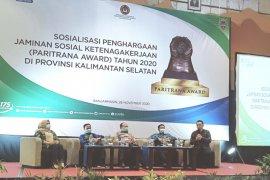 BPJS Ketenagakerjaan Banjarmasin beri semangat Pemprov Kalsel raih Paritrana Award