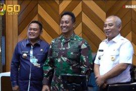 Bupati dan Wali Kota Bekasi temui Kasad bahas penanganan pemukiman kumuh