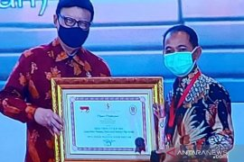 Bupati Bangka Terima Penghargaan Top 45 inovasi pelayanan publik