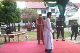 Terpidana pencabulan anak di Aceh dihukum 150 kali cambuk
