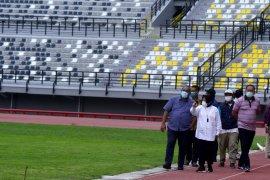 Pengerjaan renovasi luar Stadion GBT Surabaya dikebut jelang Piala Dunia U-20