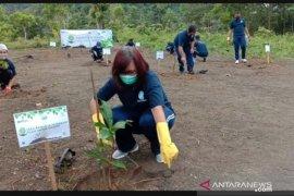 Jasa Raharja Babel Tanam 336 Bibit Pohon di Kawasan Wisata Bukit Pinteir