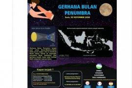 Puncak Gerhana Bulan Penumbra terjadi 30  November 2020