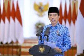 Presiden apresiasi semangat pengabdian Korpri di tengah pandemi COVID-19