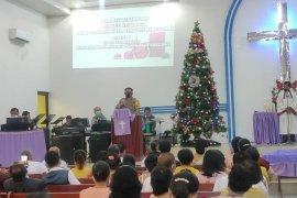 Wakapolres imbau jemaat HKBP Sibolga untuk selalu patuh prokes