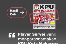 KPU Makassar klarifikasi hoaks gunakan logo KPU survei paslon wali kota