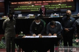 Pemprov- dewan Kaltim sepakati KUA PPAS tahun 2021 Rp11,61 triliun