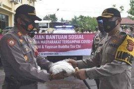 Polresta Cirebon bagikan bantuan beras 11 ton kepada warga