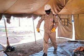PMI disinfeksi lokasi pengungsian Gunung Ili Lewotolok