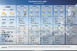 Prakiraan Cuaca di Provinsi Jambi, Selasa (15/11)