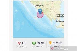 Gempa 5,1 SR guncang Kaur Bengkulu