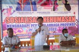 Pj Bupati Pesisir Barat buka sosialisasi kehumasan hadapi Porprov IX Lampung