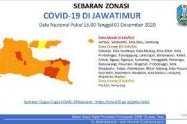 Empat daerah di Jatim kembali berstatus zona merah COVID-19