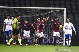 Torino kembali gagal pertahankan keunggulan saat diimbangi Sampdoria 2-2