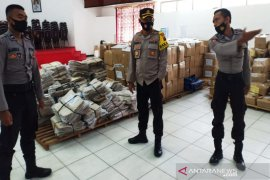 Wakapolresta Banjarmasin cek gudang KPU pastikan logistik Pilkada aman