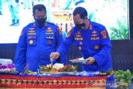 HUT Ke 70 Ditpolairud Polda Lampung gelar syukuran dan tabur bunga