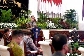 Presiden Joko Widodo optimistis dalam pengendalian COVID-19