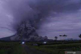 Guguran awan panas Gunung Semeru meluncur hingga sejauh 3.000 meter