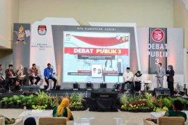 Debat publik, Calon Bupati Kediri Dhito paparkan tata kelola pemerintahan dan pelayanan publik