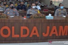 Kapolda Jambi gelar 'vicon' pengaman pilkada dengan para kapolres