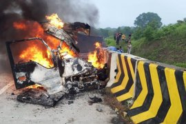 Tiga orang meninggal dunia  akibat kecelakaan di Tol Madiun-Nganjuk