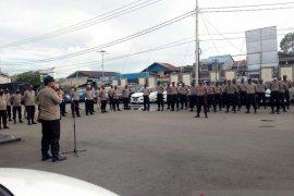 40 personel Polres Mimika bantu pengamanan Pilkada Asmat 9 Desember