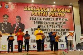 Forkopimda dan parpol Riau deklarasi Pilkada damai