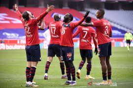 Lille jaga jarak poin dari PSG usai lumat Monaco