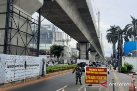 Warga sipil dan anggota TNI terjaring Operasi Wira Pecut Jaya Jaksel
