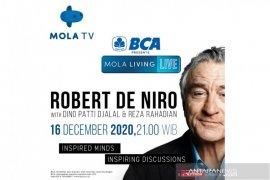 Robert De Niro akan bincang film dan kehidupan di Mola TV