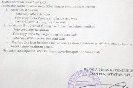 Disdukcapil Manado kumpul data lewat sekolah untuk pembuatan KIA