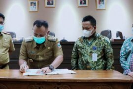 Pemkab Lampung Selatan lakukan kerjasama MoU dengan Bank Lampung tentang pengelolaan keuangan daerah