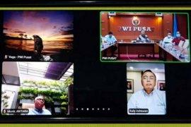PWI audiensi virtual terkait HPN ke Ketua MPR dan Menteri Koperasi