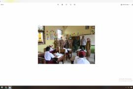 Sekda Pesisir Barat cek prokes di sekolah SD, SMP dan SMA