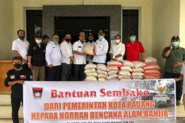 Pemkot Solok terima bantuan dari Pemkot Padang untuk korban banjir