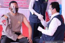 Polda Sumsel data 1.080 personel prioritas  vaksinasi COVID-19