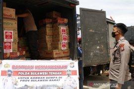 Polda Sulteng kirim logistik bantu korban bencana Sulbar